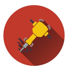 Icon of Construction jackhammer vector image