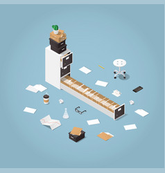 Isometric file storage vector