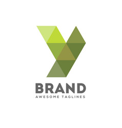 letter y geometric logo vector image