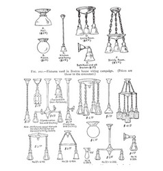 Light fixtures vintage vector