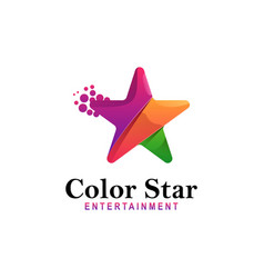 logo color star gradient colorful style vector image