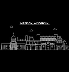 Madison silhouette skyline usa - madison vector