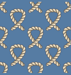 Marine ropes seamless pattern vector
