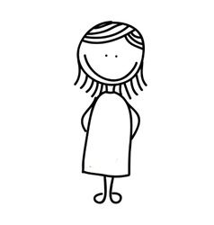 Mother character drawing isolated icon design vector