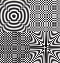 Op art patterns vector