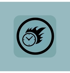 Pale blue burning time sign vector