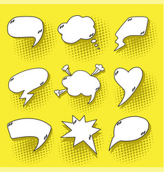 pop art speech bubbles set vector image