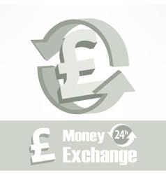 Pound symbol in grey vector image