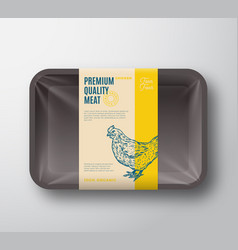 premium quality hen pack abstract poultry vector image