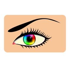 Rainbow eye vector image