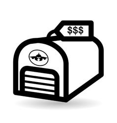 Real estate design garage concept Property icon vector image