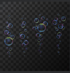 realistic 3d detailed soap bubble line on a vector image