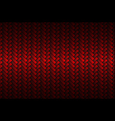 red abstract carbon fiber background vector image