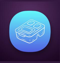 Reusable lunch box app icon vector
