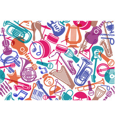 Seamless musical background vector