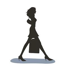 Shadows of Woman vector