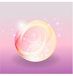 Shining abstrack magic pink violet bubble with vector