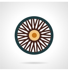 Single wheel flat icon vector image