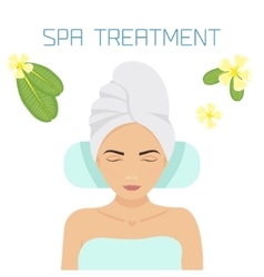 Spa treatment vector image