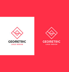 sqquare logotype template positive and negative vector image