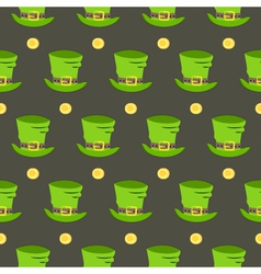 St patrick day hat seamless pattern vector