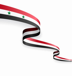 syrian flag wavy abstract background vector image