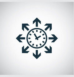 time watch arrows icon for web and ui on white vector image