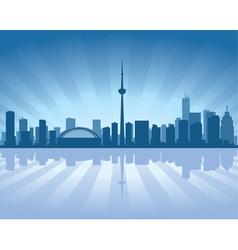 Toronto skyline vector