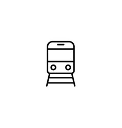 train transport icon vector image