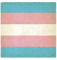 Transgender flag old background vector