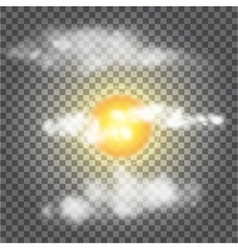 Transparent sun vector