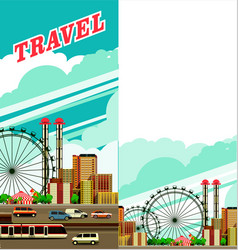 Travel by city flyer vector