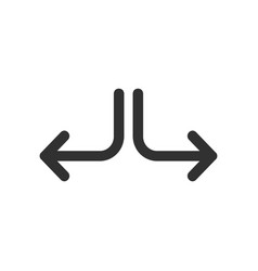 two way or side arrow in different direaction vector image