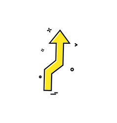 up arrow icon design vector image