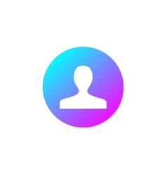 User sign icon person symbol human avatar round vector