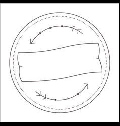 Vintage ribbon line image vector