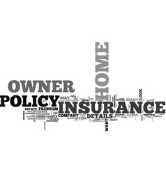 what does your home owner insurance cover text vector image
