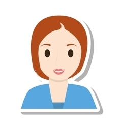 Woman female girl isolated icon vector