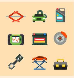 Auto car repair service symbols isolated shop vector