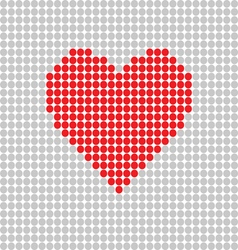heart red on grey vector image