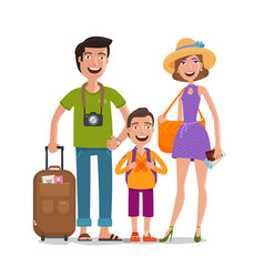Journey trip vacation happy family travels vector