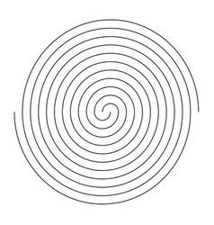 simple black and white spiral fingerprint design vector image