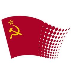 ussr flag - soviet union flag vector image