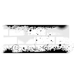 Banner in gray color with brick walls background vector image