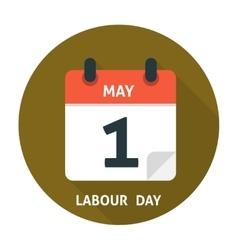 Calendar flat icon May 1 vector image