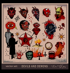 devils and demons vector image