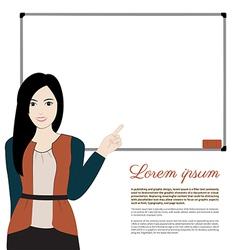 women teacher vector image