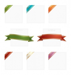 Frames with ribbons vector