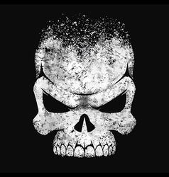 Human skull black and white vector image