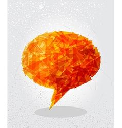 Orange social bubble shape vector image vector image